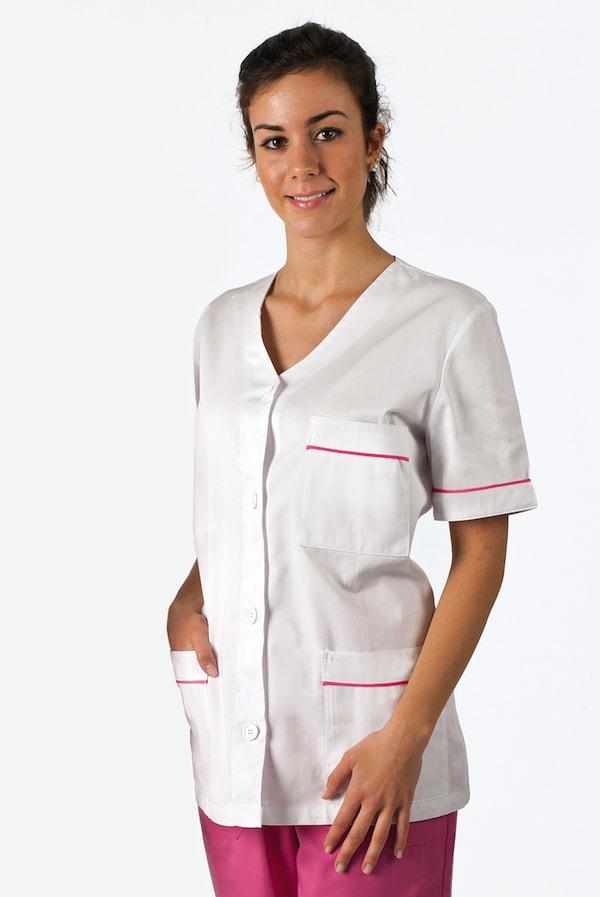 giacca da infermiera con profili colorati