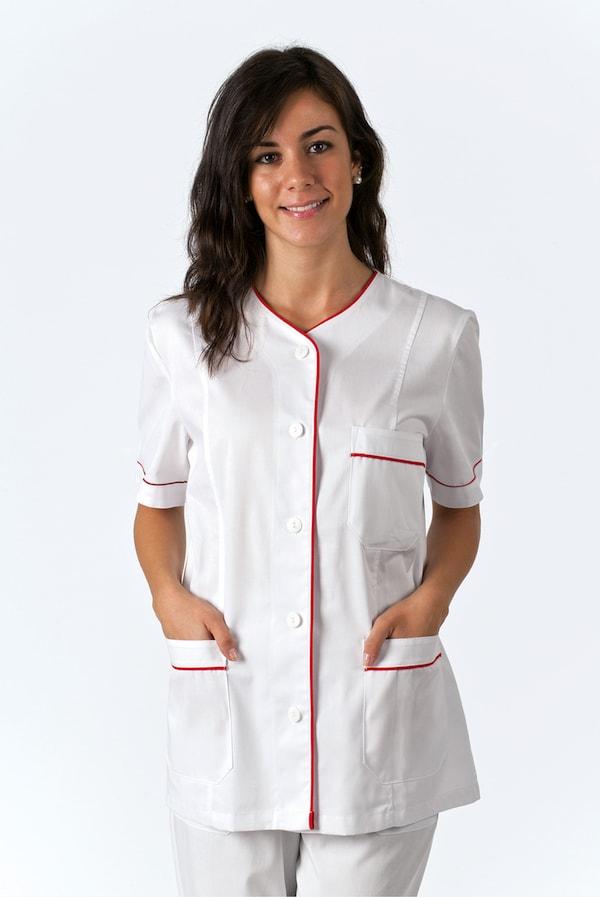 giacca per infermiere con bottoni