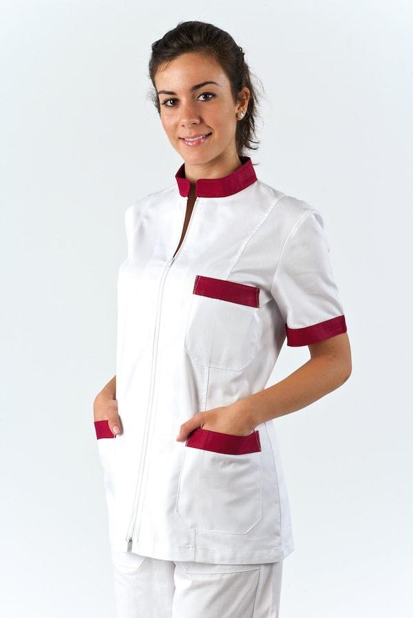 giacca e divisa da infermiera con zip