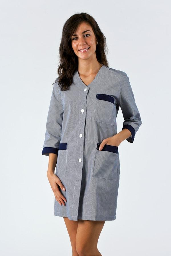 Camice da lavoro donna bianco o colorato con colletto e bordi colorati