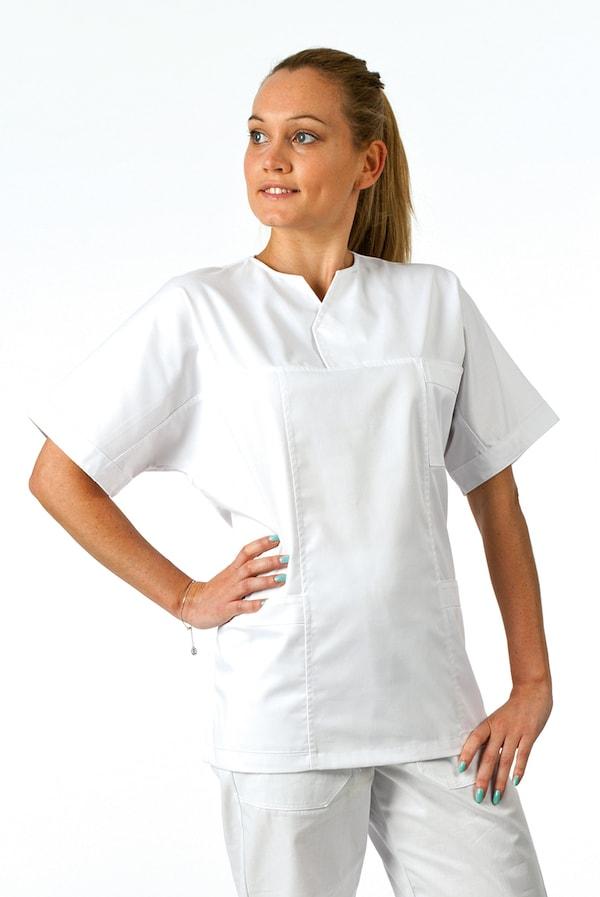 divisa infermieri bianca con casacca unisex