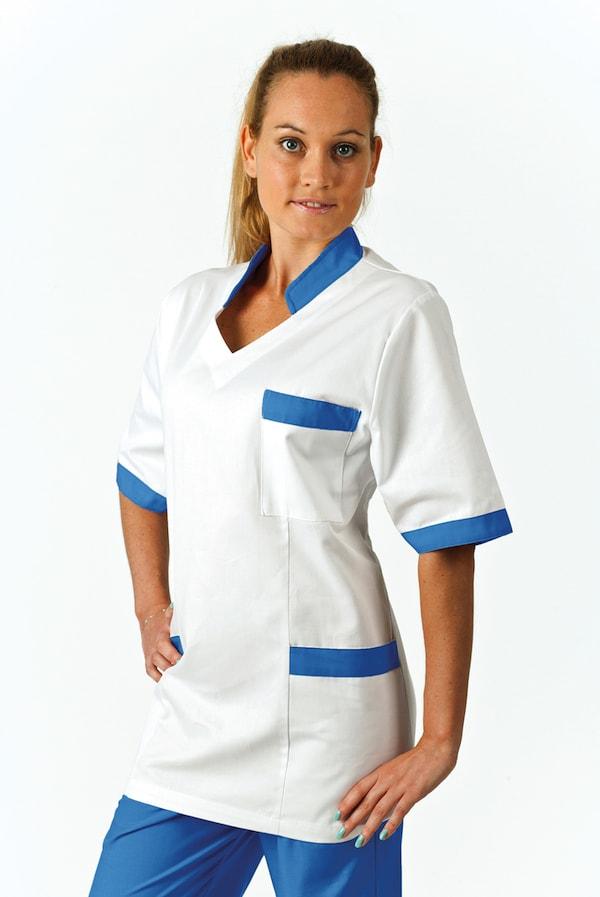 Solo infermiera con collo e bordi colorati