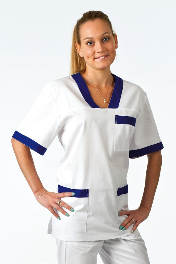Unisex bianca o colorata con bordi colorati