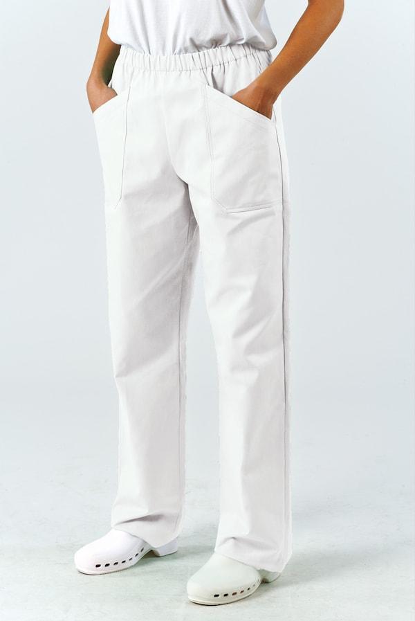 pantaloni infermieri bianchi