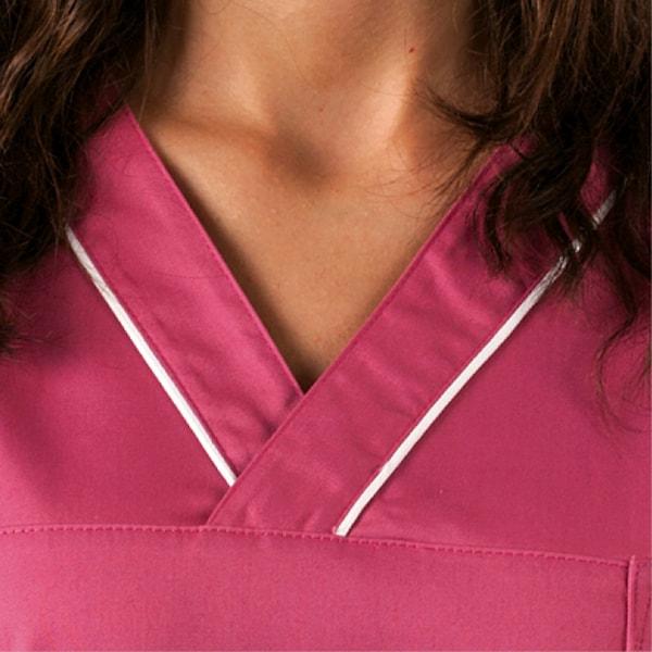 casacca infermiere, particolare del collo